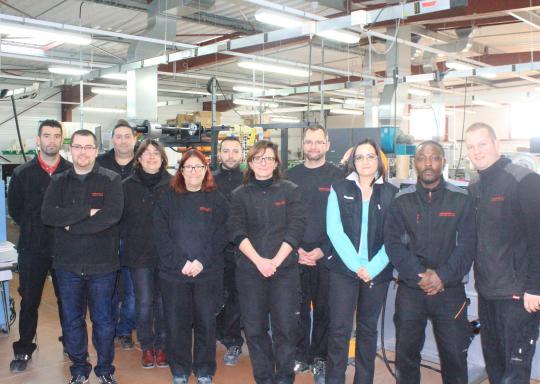 L'équipe dans l'atelier